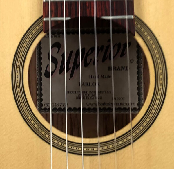 Superior Nylon String Parlor Guitar, 2019